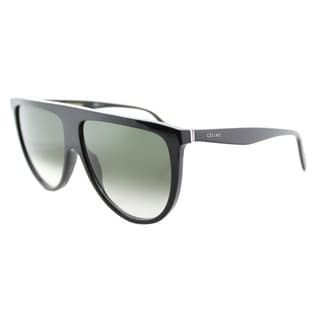 Celine CL 41435 807 Thin Shadow Black Plastic Round Green Degrade Lens Sunglasses