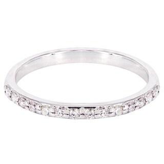 14k White Gold 3/4ct TDW Diamond Wedding Band (H-I, SI2-SI3)