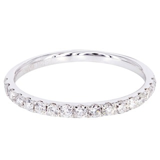14k White Gold 3/8ct TDW Diamond Wedding Band (H-I, SI1-SI2)
