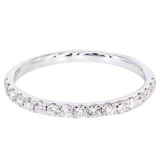 14k White Gold 3/8ct TDW Diamond Wedding Band