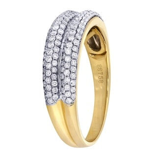 14k Yellow Gold 5/8ct TDW Diamond Band (H-I, I1-I2)