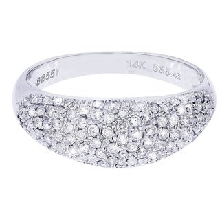 14k White Gold 3/4ct TDW Diamond Wedding Band (H-I, I2-I3)