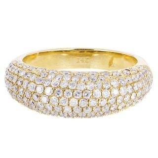 14k Yellow Gold 1 1/3ct TDW Diamond Wedding Ring (H-I, I1-I2)