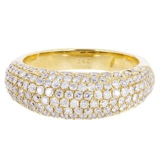 14k Yellow Gold 1 1/3ct TDW Diamond Wedding Ring