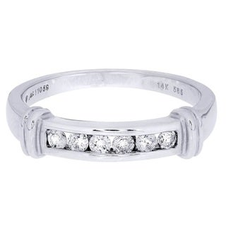 14k White Gold 1/4ct TDW Diamond Wedding Band (H-I, I1-I2)