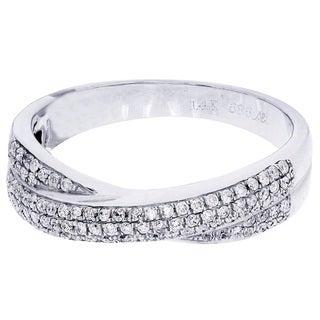 14k White Gold 5/8ct TDW Diamond Ring
