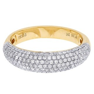 14k Yellow Gold 5/8ct TDW Diamond Wedding Ring (H-I, I2-I3)