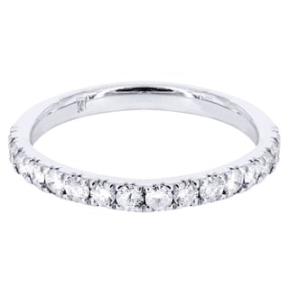 14k White Gold 2/5ct TDW 7-stone Diamond Wedding Band (G-H, I1-I2)