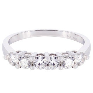 14k White Gold 1ct TDW Diamond Wedding Band (H-I, SI2-SI3)