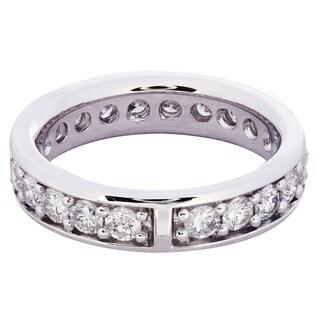 14k White Gold 1 5/8ct TDW Diamond Eternity Ring