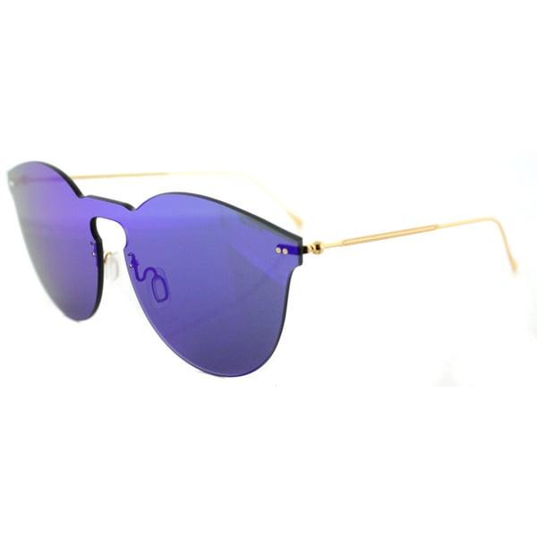 956cf0c3b81 Illesteva Leonard II Mask LM2-42 Royal Blue Plastic Round Royal Blue Mirror  Lens Sunglasses