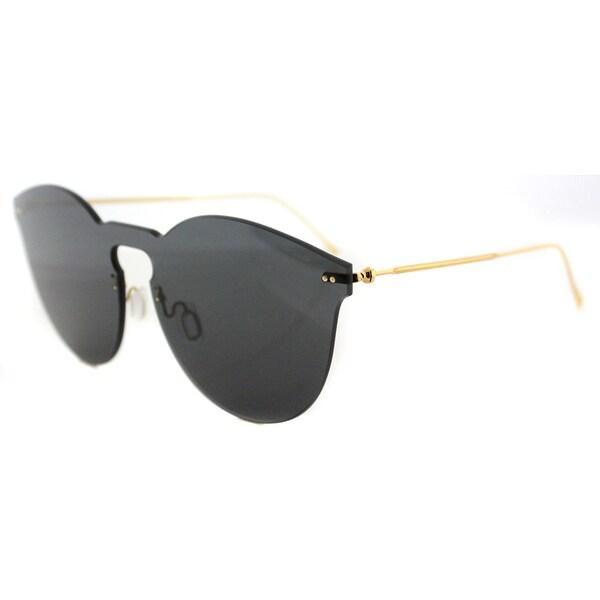 5ee45bdd4ae9 Illesteva Leonard II Mask LM2-5 Grey Plastic Round Grey Lens Sunglasses