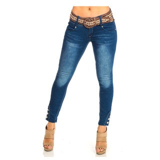 Women's Blue Low-Rise Jeans