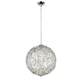 Lumenno Stella Collection 1-light Chrome/Crystal Pendant