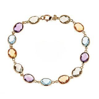 14k Yellow Gold Multi Gem Semi Precious Bracelet https://ak1.ostkcdn.com/images/products/13250682/P19964513.jpg?impolicy=medium