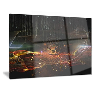 Designart 'Composition of Elements' Contemporary Art Metal Wall Art 36W x 28H(As Is Item)