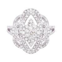 14k White Gold 1 1/3ct TDW Diamond Fashion Ring