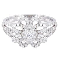 14k White Gold 1ct TDW Diamond Ring
