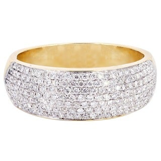 14k Yellow Gold Multi-row 3/4ct TDW Diamond Wedding Band (H-I, I1-I2)
