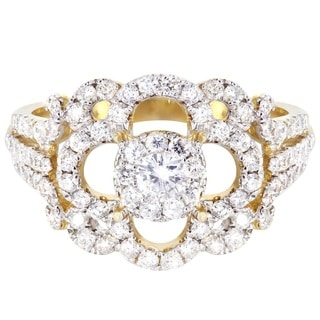 14k Yellow Gold 1/5ct TDW Fashion Diamond Ring (H-I, I1-I2)