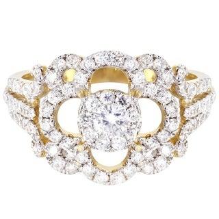 14k Yellow Gold 1/5ct TDW Fashion Diamond Ring