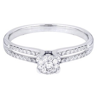 14k White Gold 1/3ct TDW Diamond Engagement Ring (H-I, I2-I3)