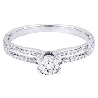 14k White Gold 1/3ct TDW Diamond Engagement Ring