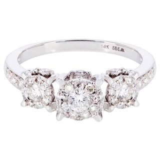 14k White Gold 2/5ct TDW Diamond Engagement Ring (I-J, I1-I2)