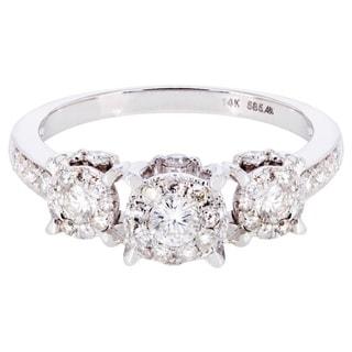14k White Gold 2/5ct TDW Diamond Engagement Ring (I-J, I1-I2)