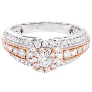14k Two-tone Gold 1 1/5ct TDW Diamond Ring