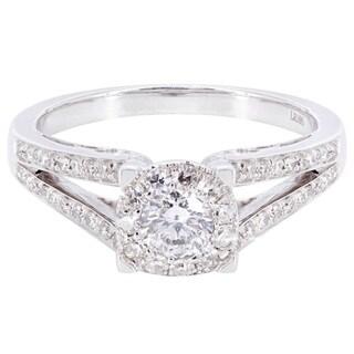 14k White Gold 4/5ct TDW Diamond Engagement Ring (H-I, I2-I3)
