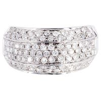 14k White Gold 1 1/10ct TDW Diamond Ring