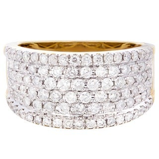 14k Yellow Gold 1 1/2ct TDW Diamond Ring