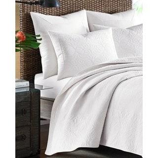 Tommy Bahama Nassau White Cotton Quilted European Sham