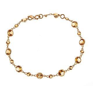 14k Yellow Gold Citrine Bracelet https://ak1.ostkcdn.com/images/products/13250748/P19964558.jpg?impolicy=medium
