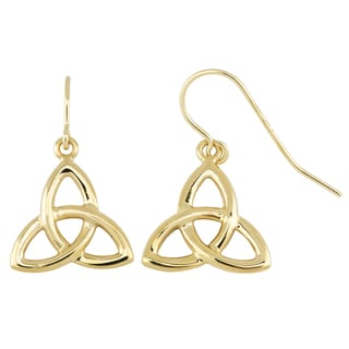 Fremada 14k Yellow Gold Celtic Knot Drop Earrings