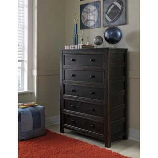 Signature Design by Ashley Jaysom Black Five Drawer Chest