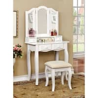 Maison Rouge Troyes Classic 2-piece Vanity Table and Padded Stool Set