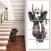 Designart 'Beautiful Cat Watercolor Graphic' Animal Canvas Wall Art