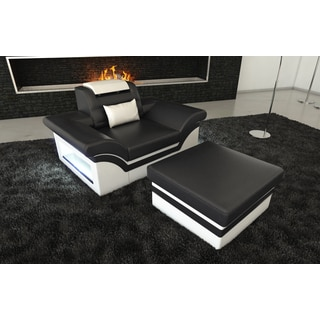 Leather Armchair Chicago with LED Lights