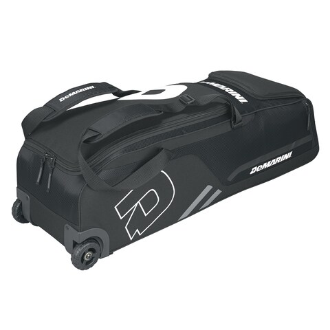 DeMarini Momentum Black Nylon Wheeled Baseball Bag