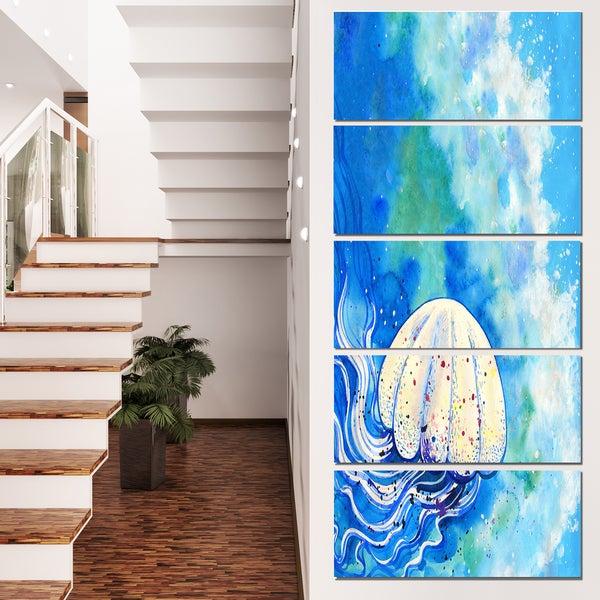 shop designart large jellyfish watercolor animal wall art print