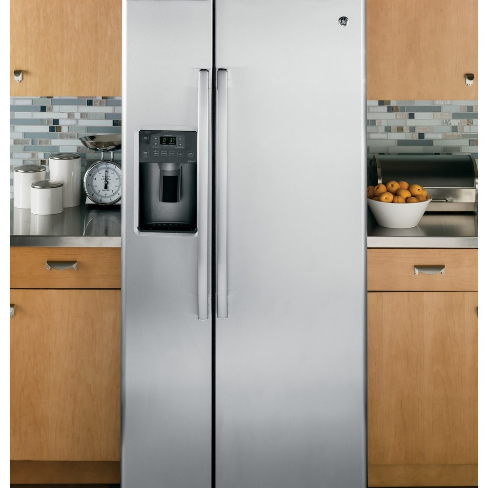 GE  APPLIANCES 23.2 CU. FT. SIDE-BY-SIDE REFRIRATOR (stainless steel)