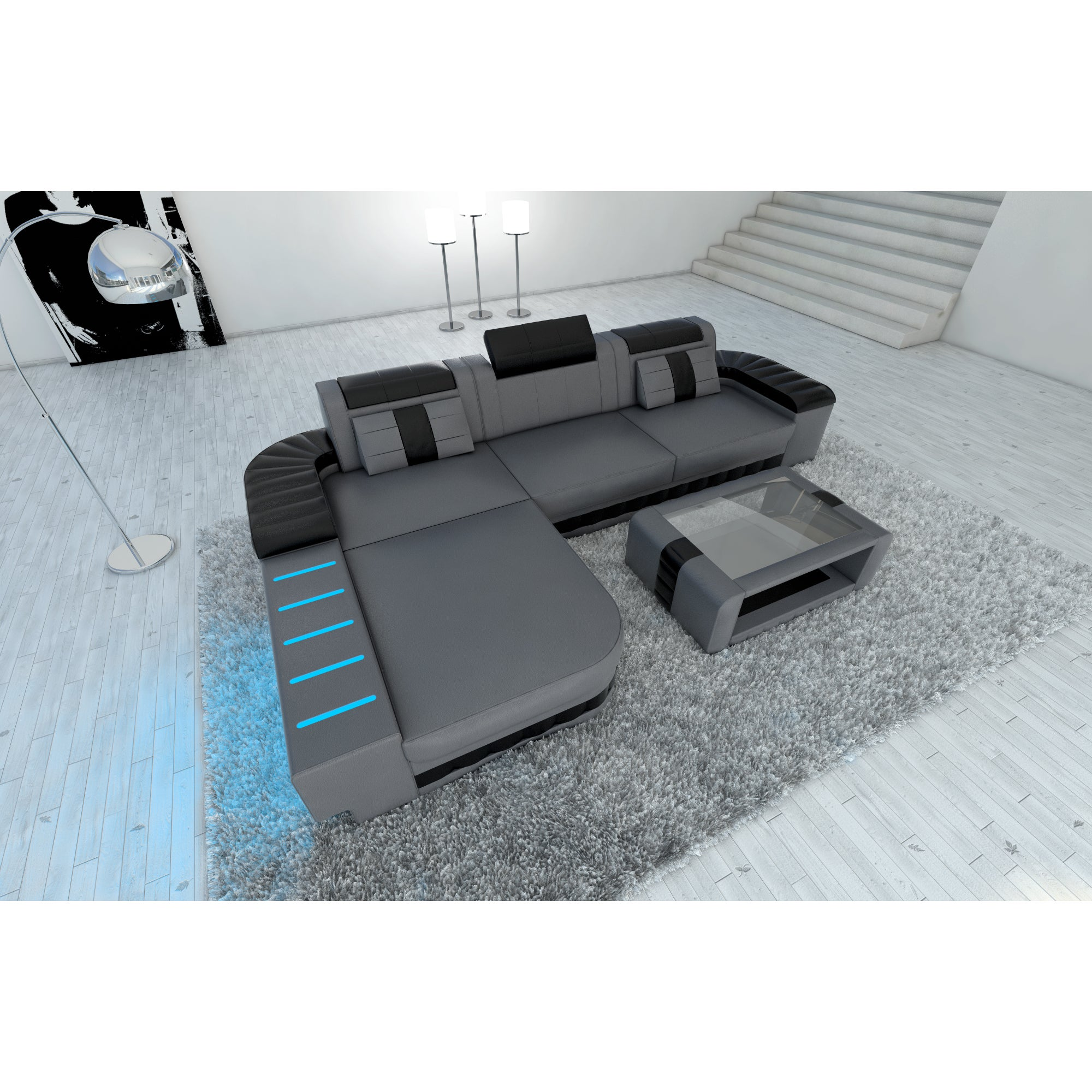 Incredible Design Sectional Sofa Boston Led Lights L Shaped Pabps2019 Chair Design Images Pabps2019Com