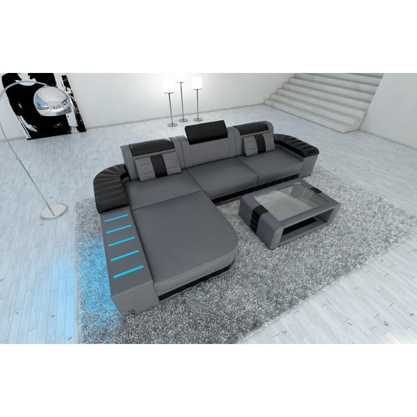 Design Sectional Sofa Boston Led Lights L Shaped