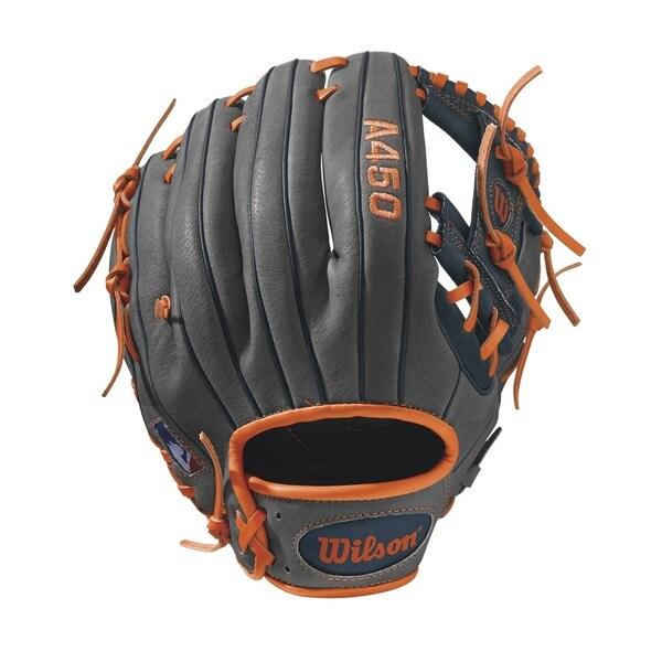 Wilson A450 Carlos Correa Grey Leather 11.5-inch All Positions Glove