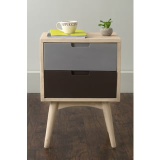 East At Main's Warren Multi-Colored Teakwood Square Night Stand