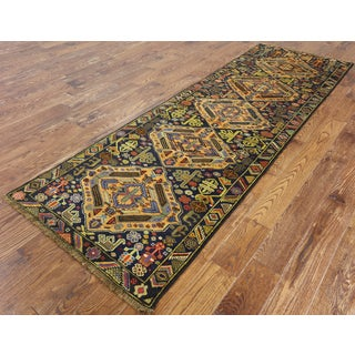 Oriental Multicolored Wool Hand-knotted Persian Balouch Runner Rug (3' X 9' 3)