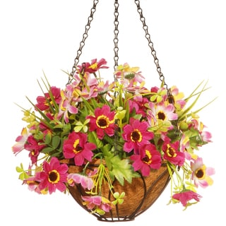 National Tree Company 13-inch Cherry Blossom Hanging Basket
