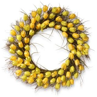 "32"" Yellow Tulip Wreath"